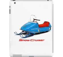 Snow Cruiser Vintage Snowmobiles iPad Case/Skin