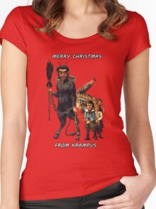 Merry Christmas... From Krampus Women's Fitted Scoop T-Shirt