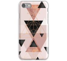 Geometric Triangles in blush and rose gold iPhone Case/Skin