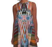 Native Indian Owl - Oil painting A-Line Dress