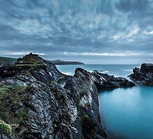 The Blue Lagoon...Abereiddy, Pembrokeshire. by Heidi Stewart