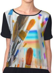 Paints and brushes Chiffon Top