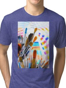 Paints and brushes Tri-blend T-Shirt