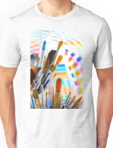 Paints and brushes Unisex T-Shirt