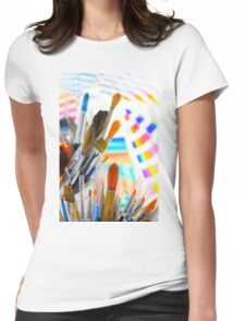 Paints and brushes Womens Fitted T-Shirt