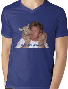 Whats for Dinner Chef Gordon Ramsay Mens V-Neck T-Shirt