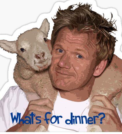 Whats for Dinner Chef Gordon Ramsay Sticker
