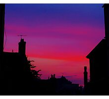 Red Sky - Unique Photography Photographic Print