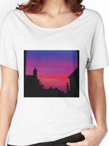 Red Sky - Unique Photography Women's Relaxed Fit T-Shirt