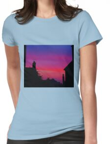 Red Sky - Unique Photography Womens Fitted T-Shirt
