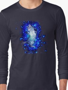Psychedelic Galaxy Cat in space Long Sleeve T-Shirt