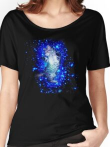 Psychedelic Galaxy Cat in space Women's Relaxed Fit T-Shirt