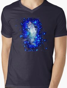Psychedelic Galaxy Cat in space Mens V-Neck T-Shirt