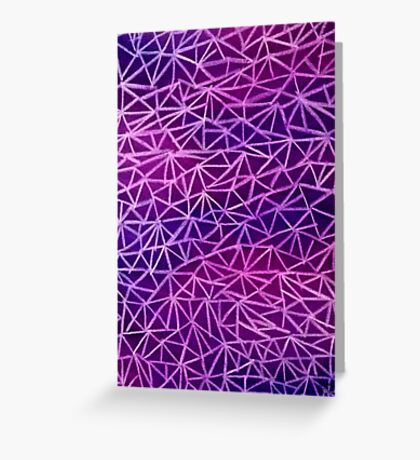 Purple Triangles Greeting Card
