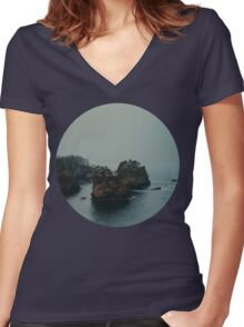 Cape Flattery Women's Fitted V-Neck T-Shirt