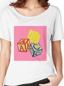 Alphabet Blocks Women's Relaxed Fit T-Shirt
