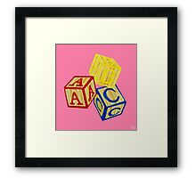 Alphabet Blocks Framed Print