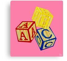 Alphabet Blocks Canvas Print
