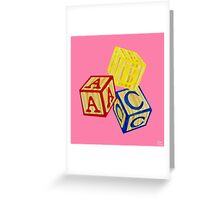 Alphabet Blocks Greeting Card