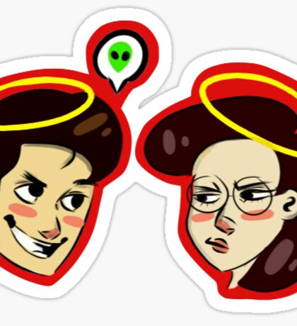 mulder and scully Sticker