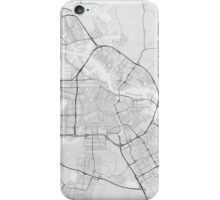Amsterdam, Netherlands Map. (Black on white) iPhone Case/Skin