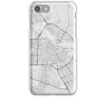 Amsterdam, Netherlands Map. (Black on white) iPhone Case/Skin