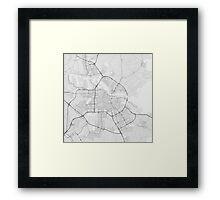 Amsterdam, Netherlands Map. (Black on white) Framed Print