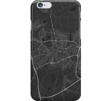 Breda, Netherlands Map. (White on black) iPhone Case/Skin