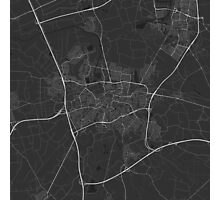 Breda, Netherlands Map. (White on black) Photographic Print