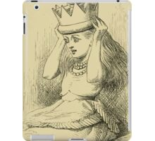 Through the Looking Glass Lewis Carroll art John Tenniel 1872 0204 A Golden Crown iPad Case/Skin