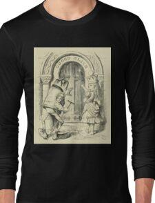 Through the Looking Glass Lewis Carroll art John Tenniel 1872 0221 Queen Alice Long Sleeve T-Shirt