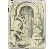 Through the Looking Glass Lewis Carroll art John Tenniel 1872 0221 Queen Alice iPad Case/Skin