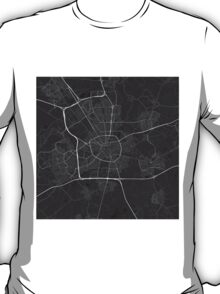 Eindhoven, Netherlands Map. (White on black) T-Shirt