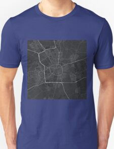 Eindhoven, Netherlands Map. (White on black) T-Shirt