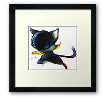 Feline heart thief  Framed Print