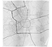Eindhoven, Netherlands Map. (Black on white) Poster