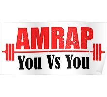 AMRAP As Many Reps As Possible You Vs You Poster