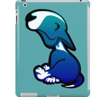 Innocent Bull Terrier Aqua Flush Puppy  iPad Case/Skin
