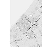 The Hague, Netherlands Map. (Black on white) Photographic Print