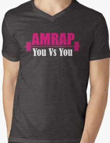 AMRAP As Many Reps As Possible You Vs YOU Mens V-Neck T-Shirt