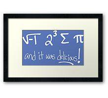 i 8 sum pi Framed Print