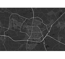 Tilburg, Netherlands Map. (White on black) Photographic Print