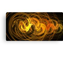 Mocha Sun Swirls Canvas Print