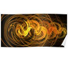 Mocha Sun Swirls Poster