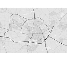 Tilburg, Netherlands Map. (Black on white) Photographic Print
