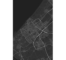 The Hague, Netherlands Map. (White on black) Photographic Print