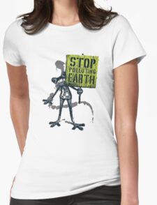 save earth Womens Fitted T-Shirt