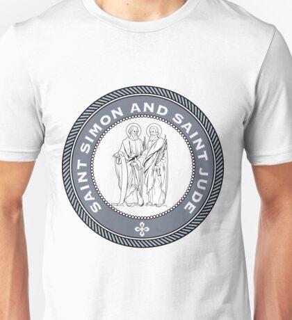 SAINT SIMON AND SAINT JUDE MEDALLION Unisex T-Shirt