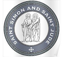 SAINT SIMON AND SAINT JUDE MEDALLION Poster