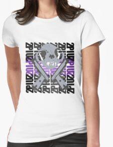 cat skull guns  Womens Fitted T-Shirt